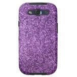 Falso brillo púrpura samsung galaxy s3 cárcasas