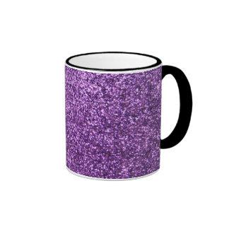 Falso brillo púrpura taza de dos colores