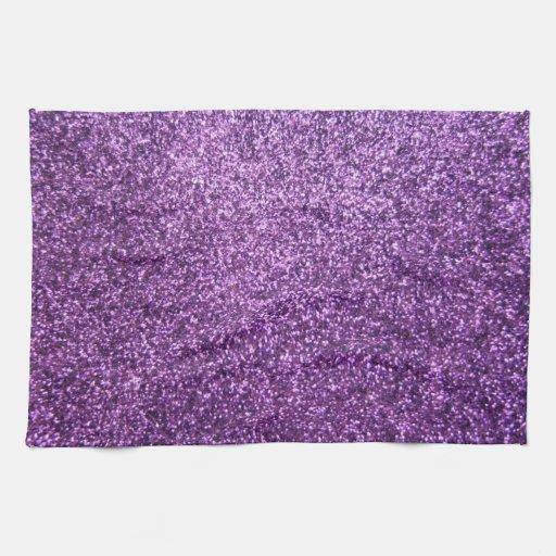 Falso brillo púrpura toallas
