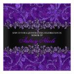 Falso brillo púrpura y terciopelo Quinceanera flor