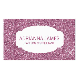 Falso brillo rosado de la chispa 311 tarjetas de visita