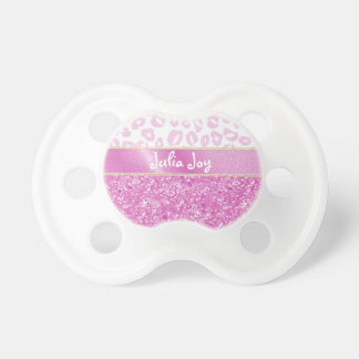 Falso brillo rosado del KRW y nombre del Chupetes Para Bebés