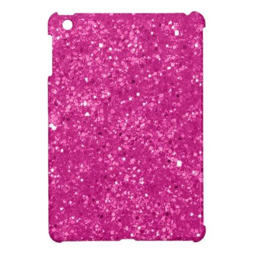 Falso brillo rosado iPad mini protectores