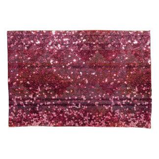 Falso brillo rosado magenta por todo la impresión funda de cojín