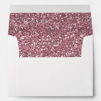 Falso brillo rosado sobres