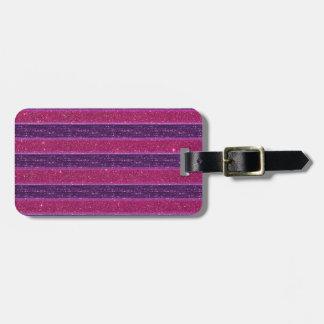 Falso brillo y rosa y púrpura de la lentejuela etiquetas bolsas