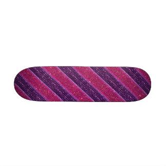 Falso brillo y rosa y púrpura de la lentejuela monopatín