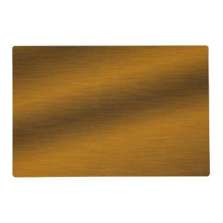 Falso bronce cepillado elegante tapete individual