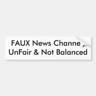 FALSO canal de noticias, injustos y no equilibrado Pegatina Para Auto