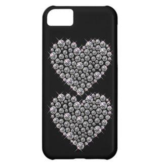 Falso caso de IPhone 5 del corazón del diamante ar