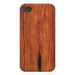 falso caso de madera del iPhone 4/4S del grano iPhone 4 Funda
