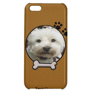 Falso caso de madera del iPhone 5 de la fotografía