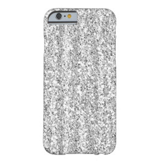 Falso caso de plata del iPhone 6 del brillo Funda De iPhone 6 Barely There