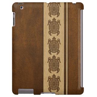 Falso caso hawaiano de madera del iPad de la Funda Para iPad