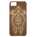 Falso caso hawaiano de madera del iPhone 5 de la