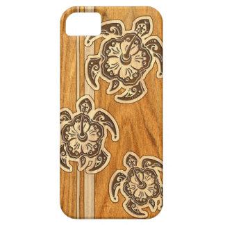 Falso caso hawaiano de madera del iPhone 5 de la Funda Para iPhone 5 Barely There