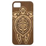 Falso caso hawaiano de madera del iPhone 5 de la iPhone 5 Case-Mate Cobertura