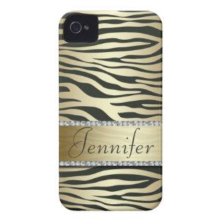 Falso caso Jeweled elegante del iPhone del iPhone 4 Case-Mate Cárcasa