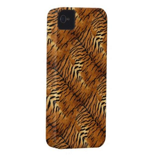 Falso caso natural del iPhone 4 de la piel del tig iPhone 4 Case-Mate Cobertura