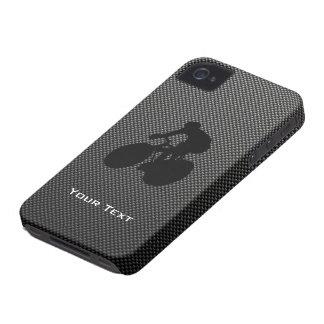 Falso ciclo de la fibra de carbono iPhone 4 Case-Mate carcasa