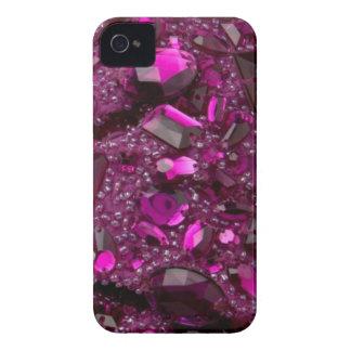 Falso compañero Jeweled macizo grande del caso iPhone 4 Carcasa