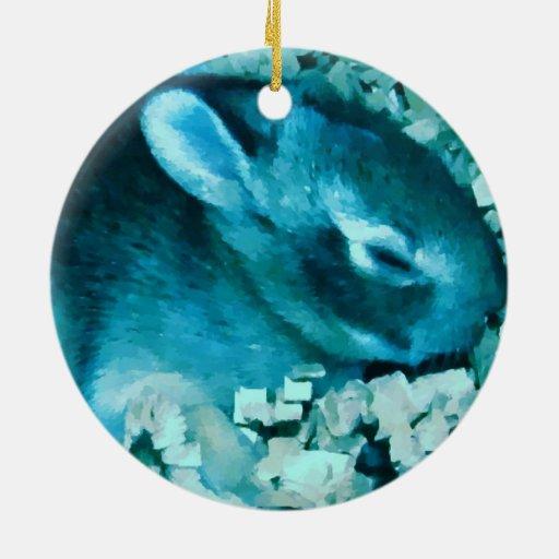 Falso conejito del azul de Lil Ornamento Para Reyes Magos
