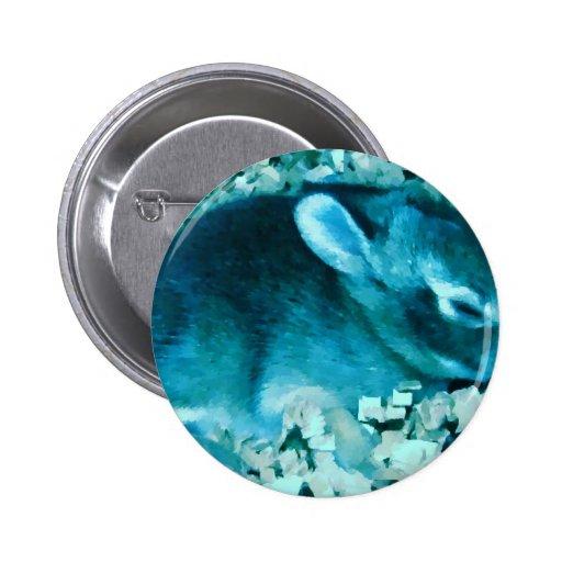 Falso conejito del azul de Lil Pin Redondo 5 Cm