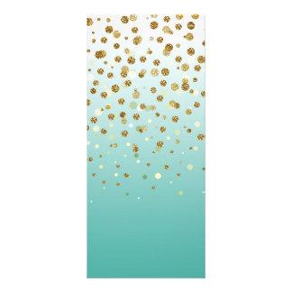 """Falso confeti femenino moderno bonito del brillo folleto publicitario 4"""" x 9"""""""