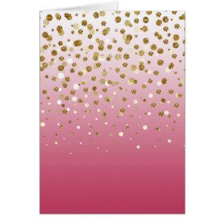 Falso confeti femenino moderno bonito del brillo tarjeta de felicitación