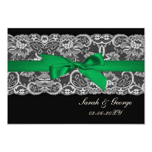 """Falso cordón y cinta """"verde esmeralda"""" 3,5 x rsvp comunicados personalizados"""