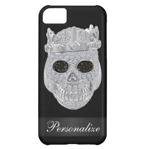 Falso cráneo del diamante con el caso del iPhone 5