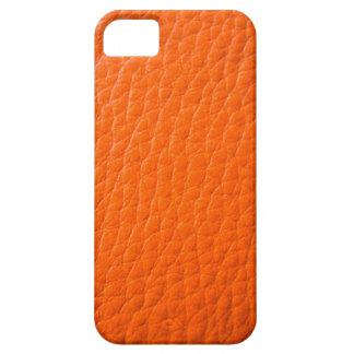 Falso cuero anaranjado iPhone 5 cobertura