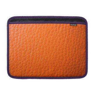 Falso cuero anaranjado fundas MacBook