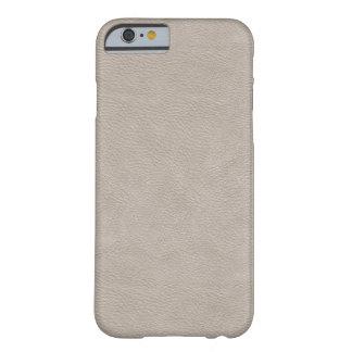 Falso cuero blanco funda de iPhone 6 barely there