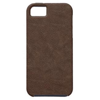 Falso cuero de Brown iPhone 5 Protectores