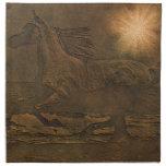 Falso Cuero-efecto Cantering del caballo enérgico  Servilletas