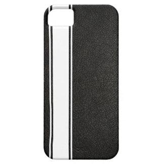 Falso cuero negro y caja blanca del iPhone 5s de l iPhone 5 Case-Mate Carcasa