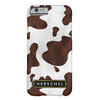 Falso cuero occidental del zurriago manchado funda de iPhone 6 barely there