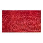 Falso cuero rojo del cocodrilo tarjetas de visita