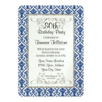 Falso cumpleaños de plata del estampado de flores anuncios personalizados