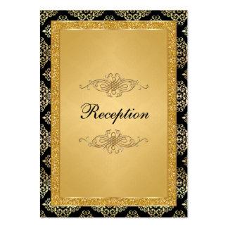 FALSO damasco del brillo del oro, tarjeta del reci Tarjetas De Visita
