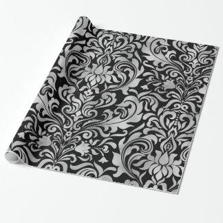 Falso damasco elegante atractivo de la hoja de papel de regalo