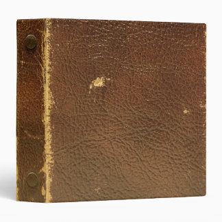 """Falso de cuero de Brown del vintage Carpeta 1 1/2"""""""