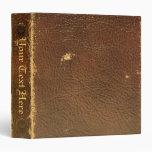 Falso de cuero de Brown del vintage Carpeta 3,8 Cm