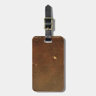Falso de cuero de Brown del vintage Etiquetas Para Equipaje