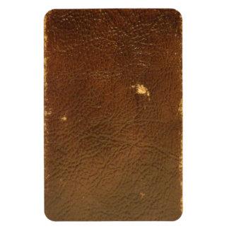 Falso de cuero de Brown del vintage Imanes Rectangulares