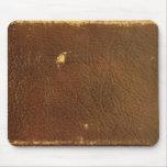 Falso de cuero de Brown del vintage Alfombrilla De Raton