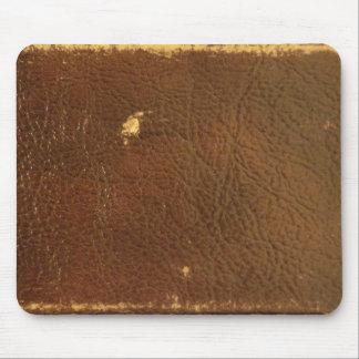 Falso de cuero de Brown del vintage Tapetes De Ratones