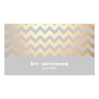 Falso de moda fresco gris del modelo de zigzag de tarjetas de visita