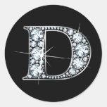 "Falso de ""pegatina Bling del diamante"" de ""D"""